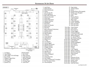 NWC36 Art Show Map