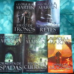 Full set of Song of Ice & Fire in Spanish hardcover, published by Gilgamesh in Barcelona, signed