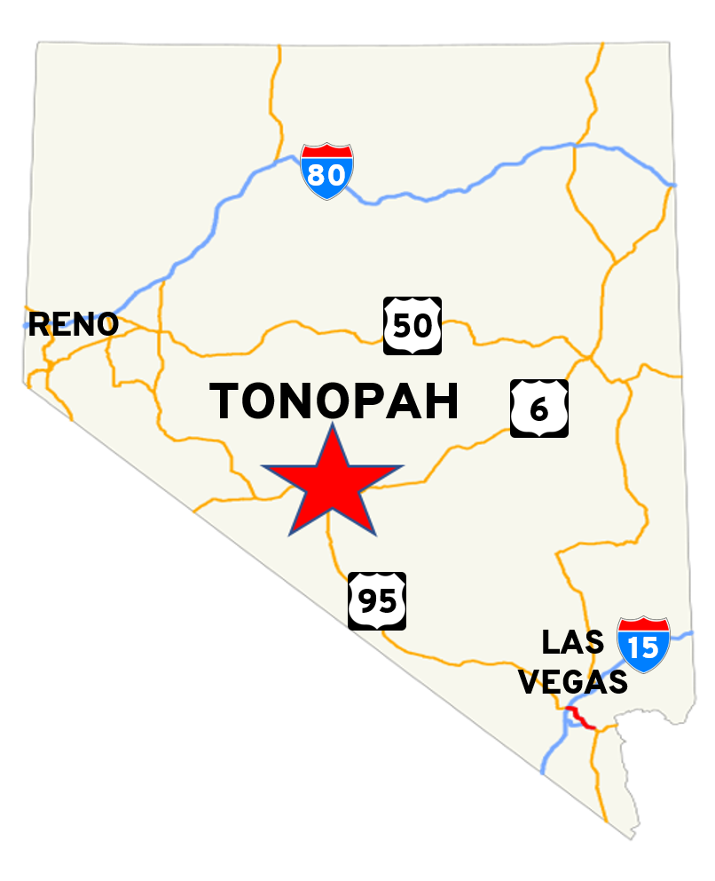 Where Is Tonopah Map With Highways