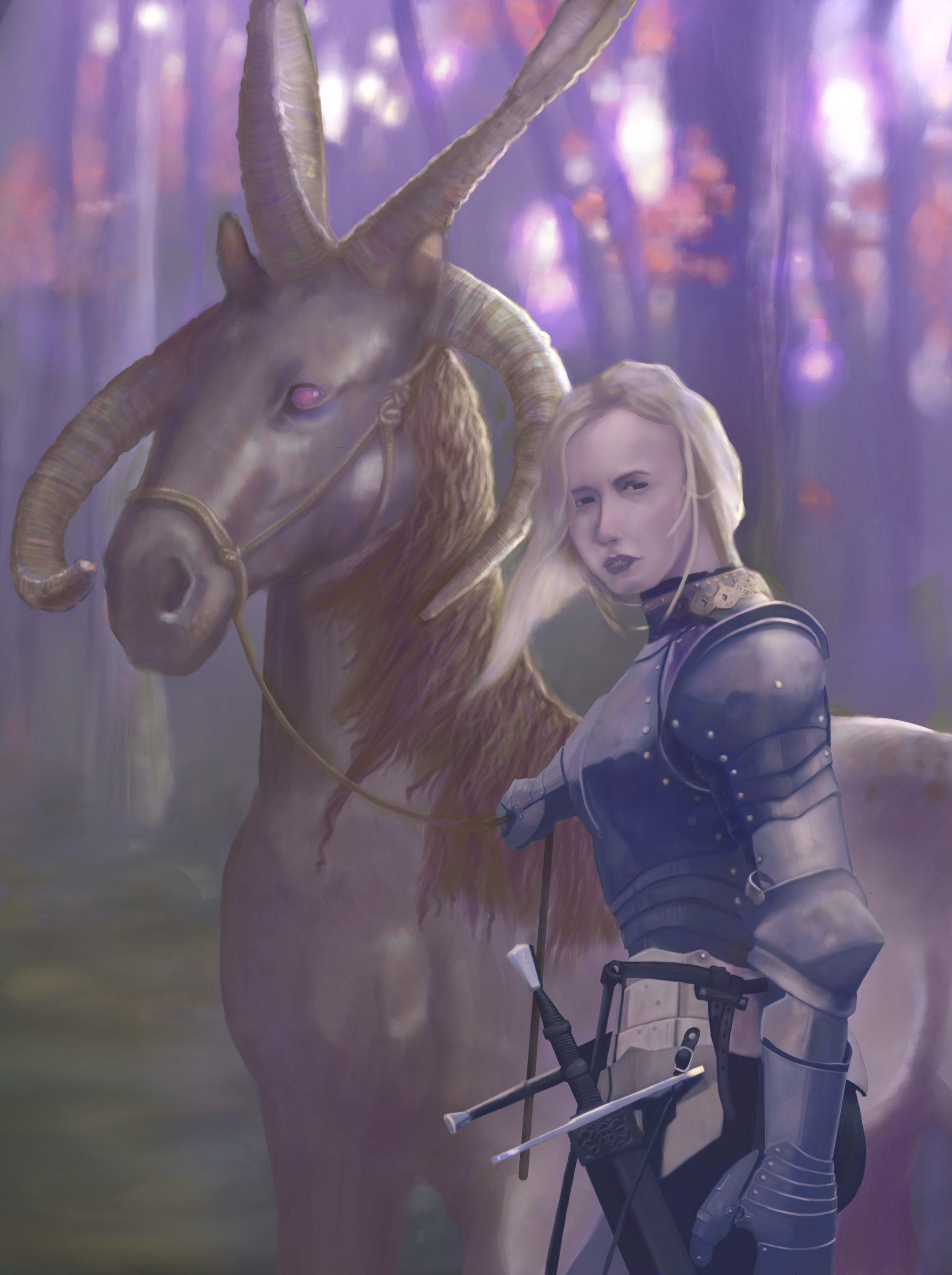 Knight and her Mount
